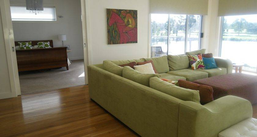 Decorating Modern Home Green Couch