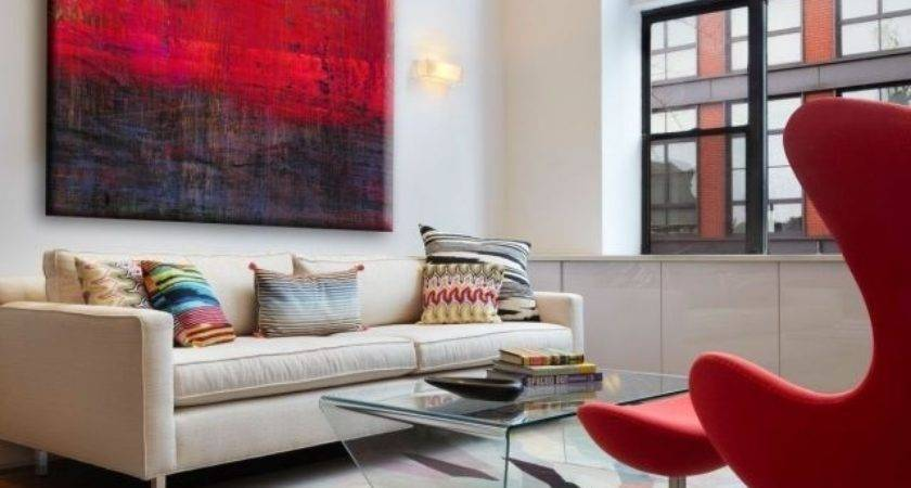 Decorating Red Accents Ways Rock Look