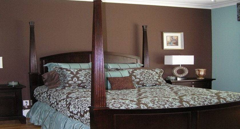 Decorations Blue Brown Modern Interior Bedroom Paint