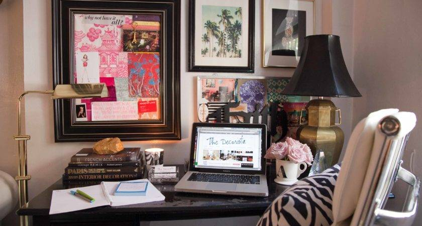 Decorista Eclectic Glam Home Office Sayeh