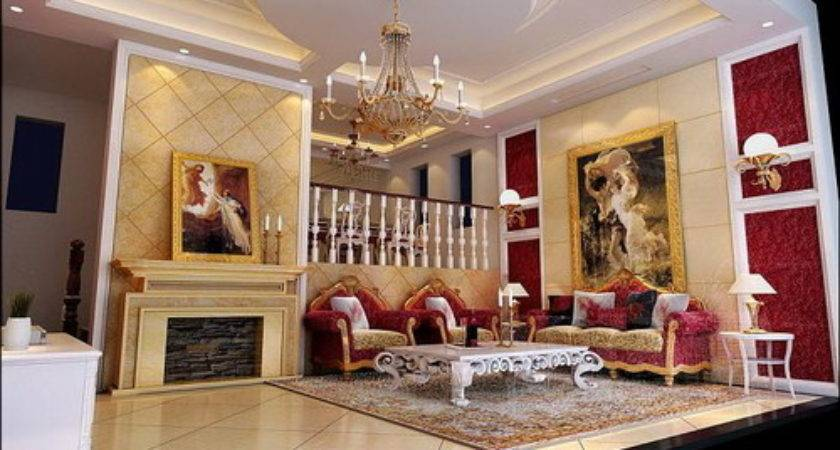 Deluxe European Style Drawing Room Model