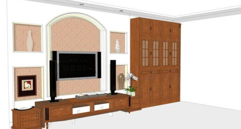 Design Living Room Wall Cabinet House