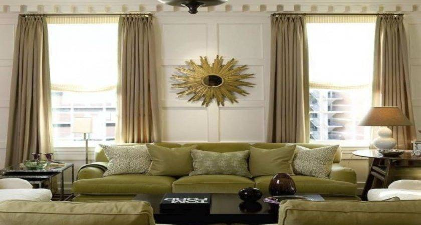 Different Style Curtains Green Gold Living Room