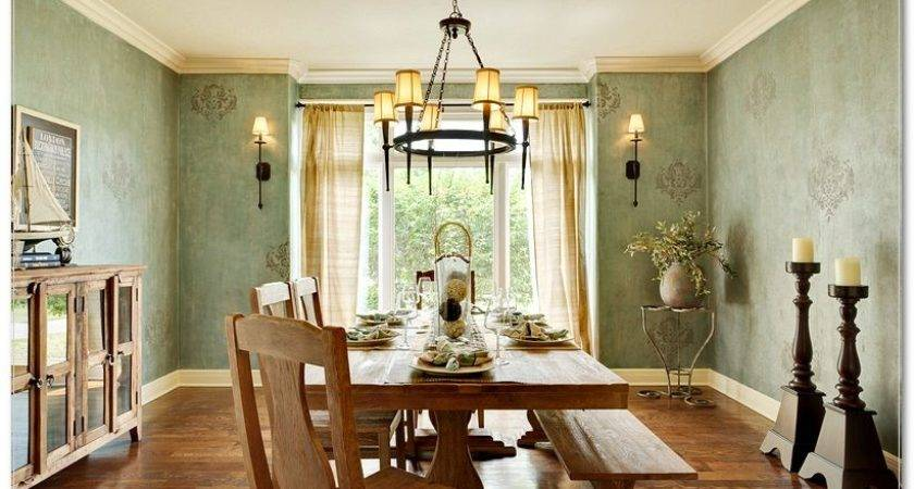 Dining Room Comfortable Attractive Country Style