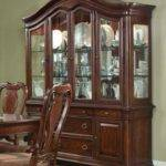 Dining Room Polished Wooden Sets Hutch