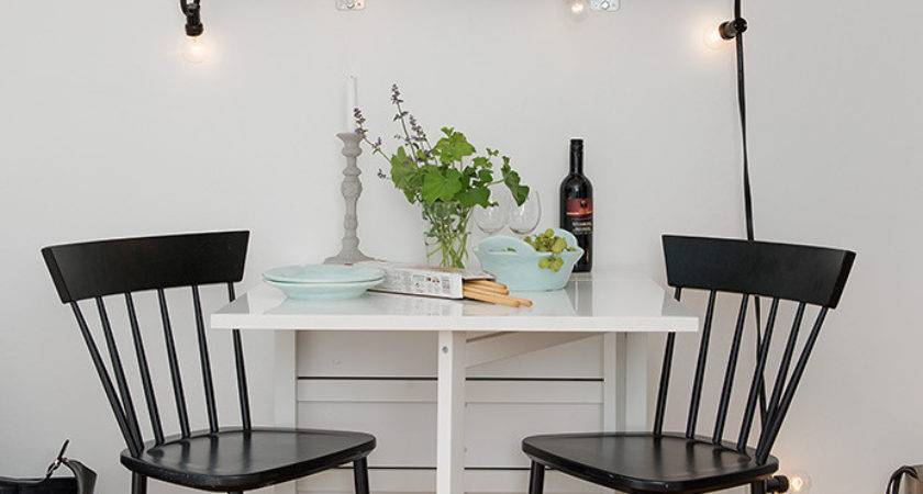 Dining Room Small Table Black Chairs Tiny Apartment