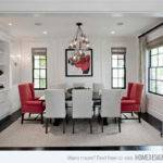 Dining Rooms Red Black White Colors Home