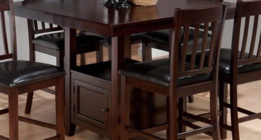 Dining Table Counter Height Storage