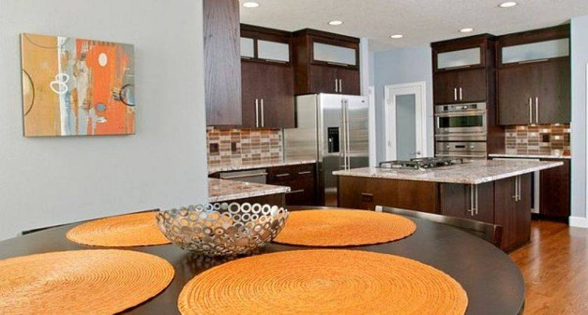 Dining Table Inspiration Kitchens Painted Orange