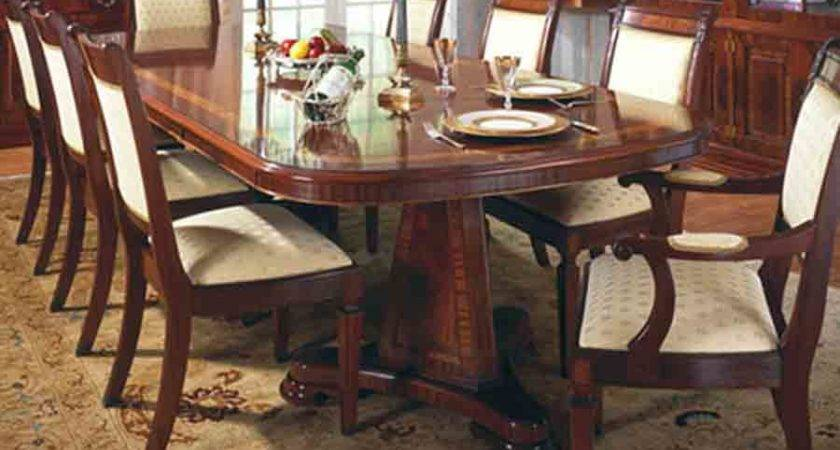 Dining Table Wood Leather