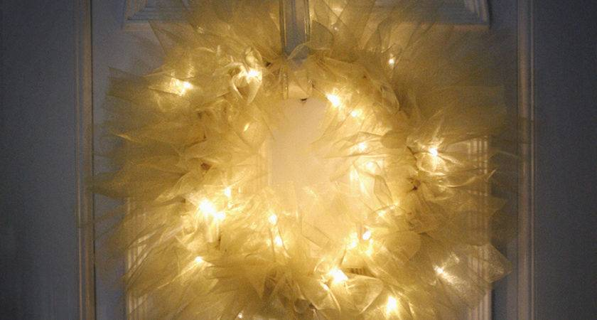 Diy Tulle Light Wreath Christmas Lights Shop Blog