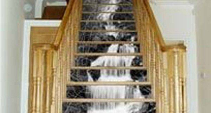 Diy Wallpapered Stair Risers Ideas Give Stairs Some