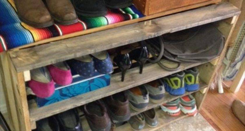 Diy Wooden Pallet Shoe Storage Ideas Recycled