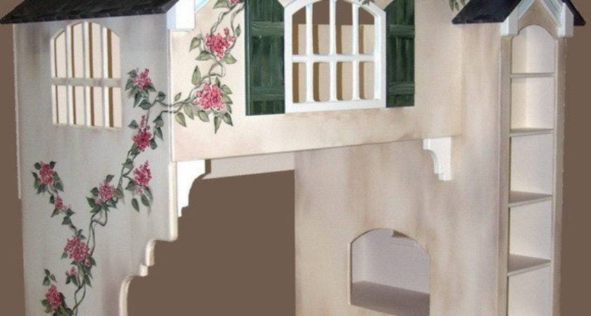 Dollhouse Loft Bed Twin Over