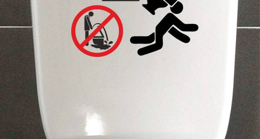Don Miss Funny Sticker Decal Reminder Warning Toilet