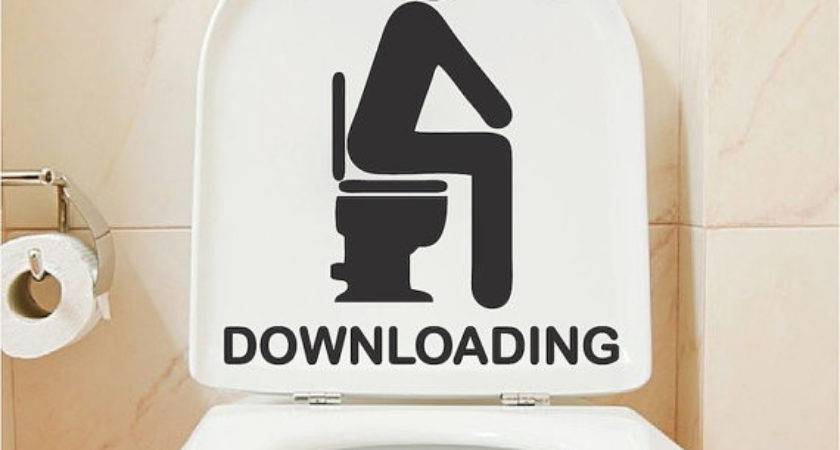 Downloading Bathroom Decal Funny Toilet Decals