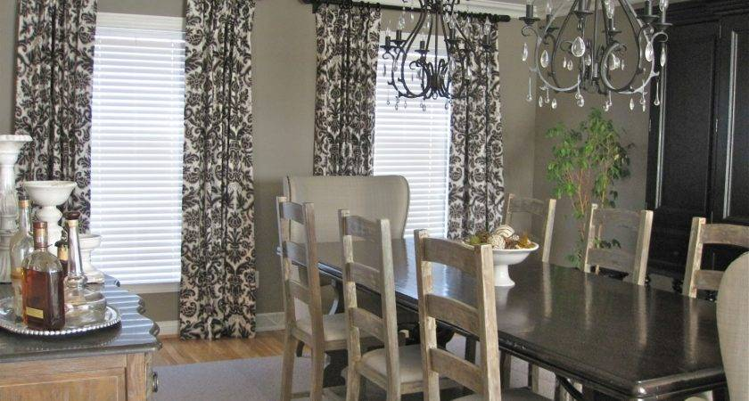 Drapery Panels Gray Dining Room Driven Decor
