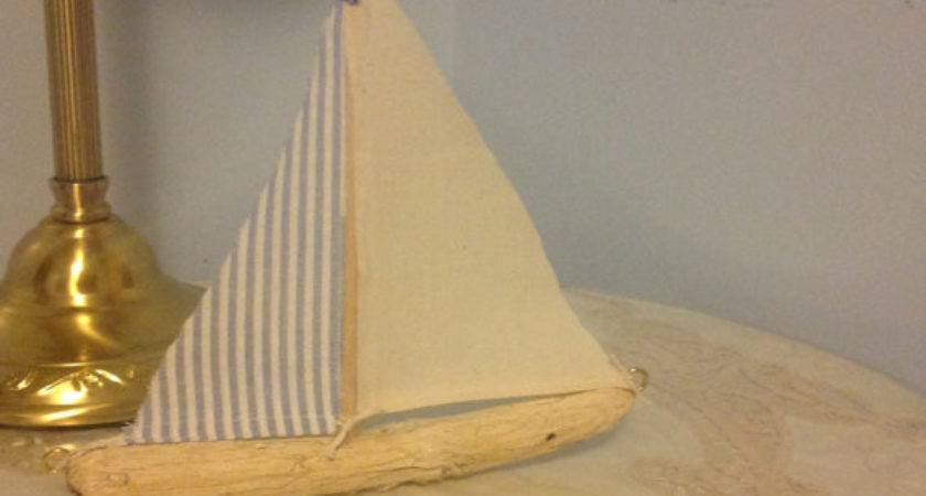 Driftwood Sailboat Nautical Decor Home Baby