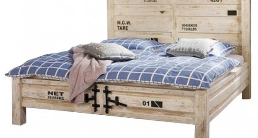 Earth Solid Wood Container Industrial Bed Metal Details