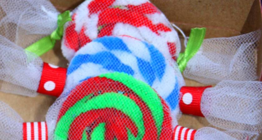 Easy Christmas Ornament Craft Peppermint Candy Inspired