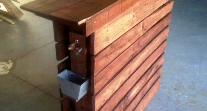Easy Made Pallet Bar Table Ideas