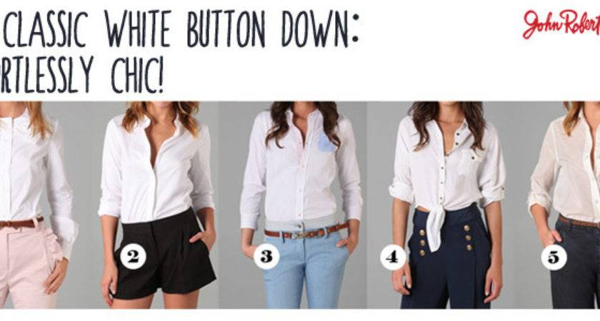 Effortlessly Chic Wear Classic White Shirt