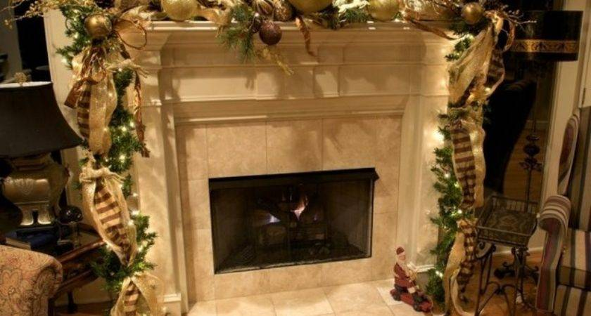 Elegant Christmas Mantel Decorations Designcorner