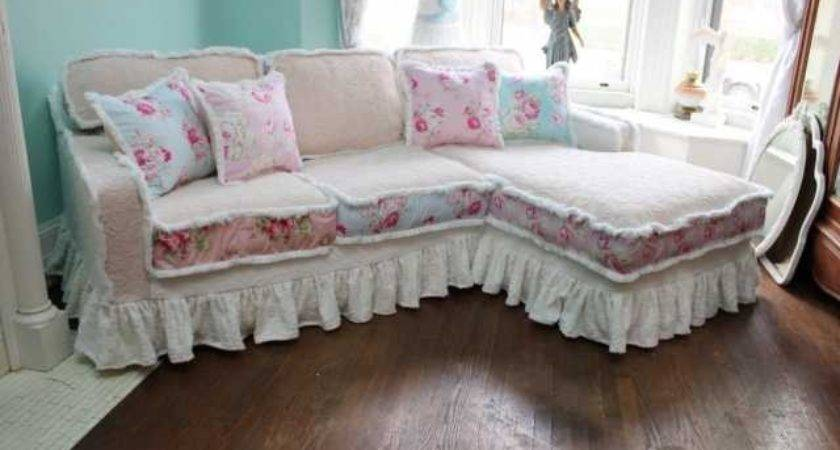 Elegant Shabby Chic Floral Sofa Covers Slipcovers