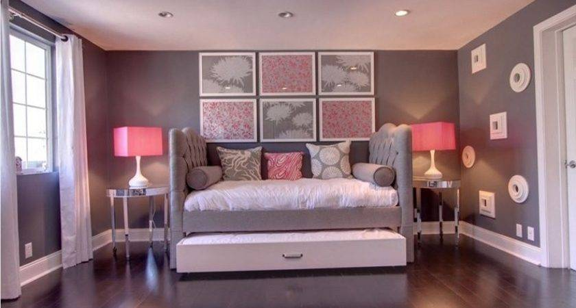 Elegant Tranquil Pink Gray Bedroom Designs