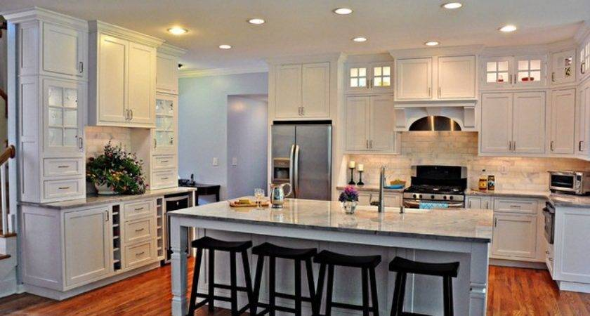 Elegant White Kitchen Transitional New York