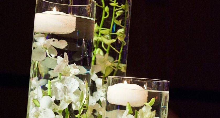Encore Centerpieces Tall Cylinders Floating Votives