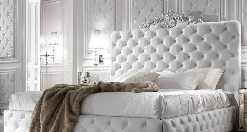 Exclusive Luxury Italian White Leather Bed Juliettes