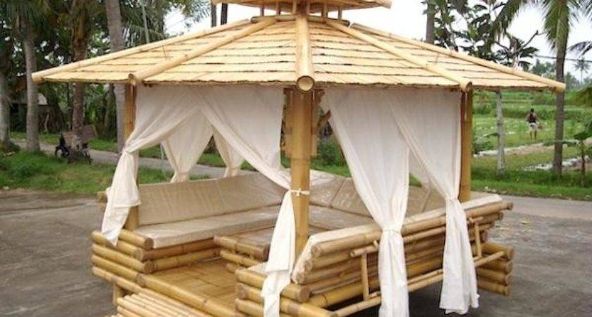 Exquisite Bamboo Wood Gazebo Home Design Garden
