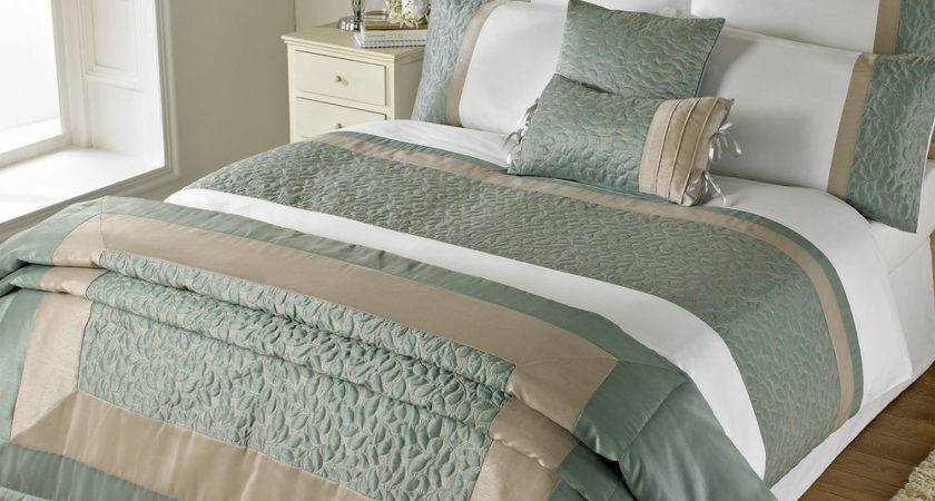 Faux Satin Leaf Duvet Cover Cotton Rich Bedding White