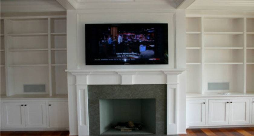 Fireplace Mantels Above Mounting