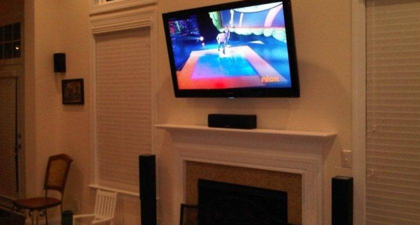 Flat Screen Wall Mount Installation Over Fireplace