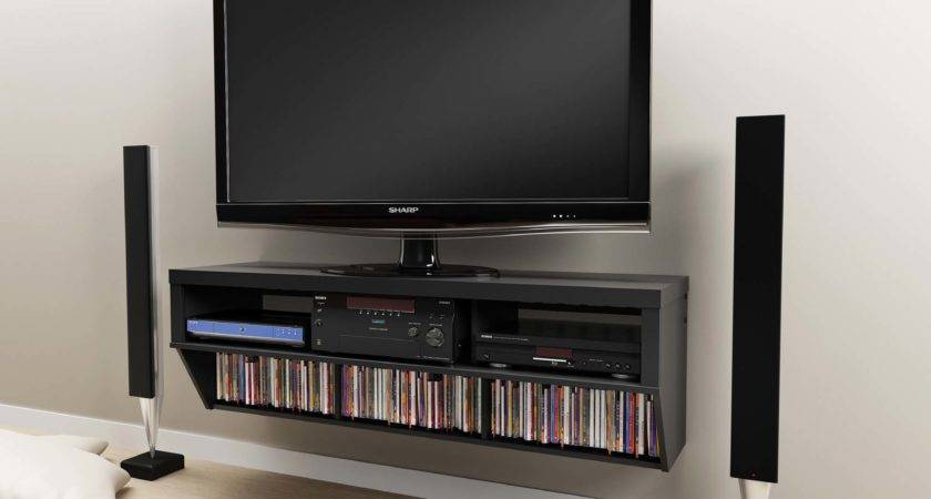 Flat Screen Wall Mounted Shelves