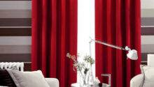 Flirty Red Living Room Curtains Ideas Abpho