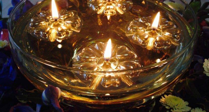 Floating Candles Gold Floats Long Burning Wicks