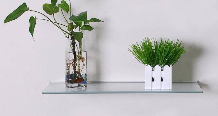 Floating Frosted Glass Wall Shelf