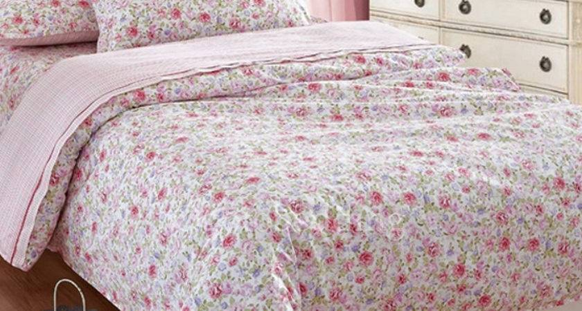 Floral Pink Romantic Pretty Teen Bedding Sets Twin