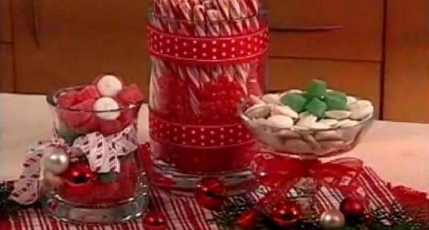 Foodista Quick Easy Christmas Candy Centerpieces