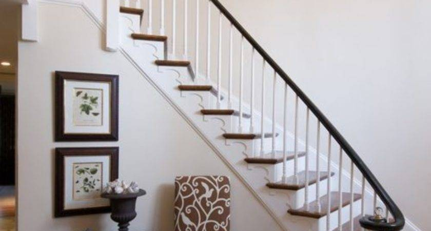 Foyer Curved Staircase Houzz