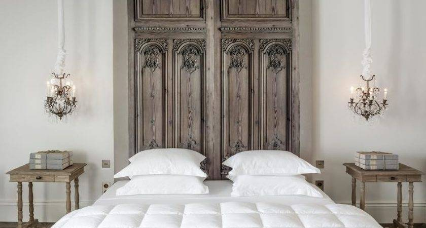 French Door Headboard Bedroom