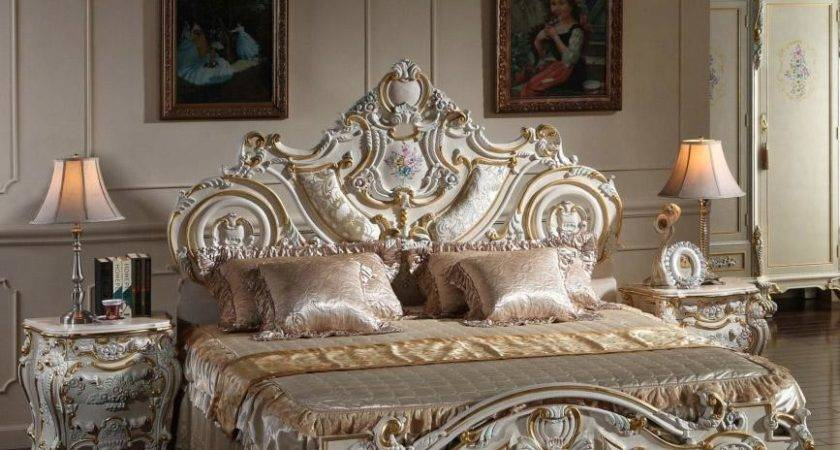 French Rococo Classic European Furniture Solid Wood