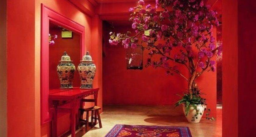 French Tangerine Red Room