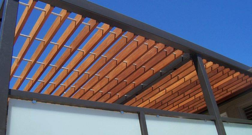 Fresh Air Wood Steel Pergola Close Ornamental Elegance