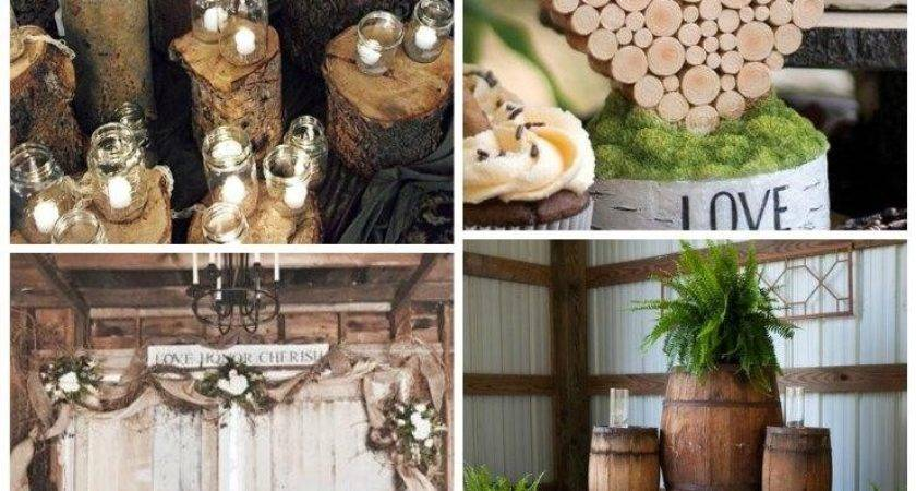 Fresh Country Themed Wedding Reception Decorations