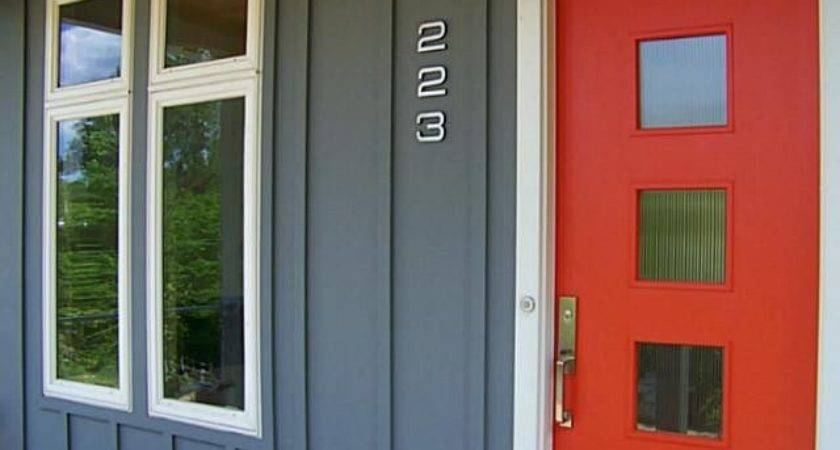 Front Center Color Paint Your Door Bright Red