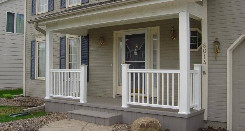 Front Porch Contemporary Railing